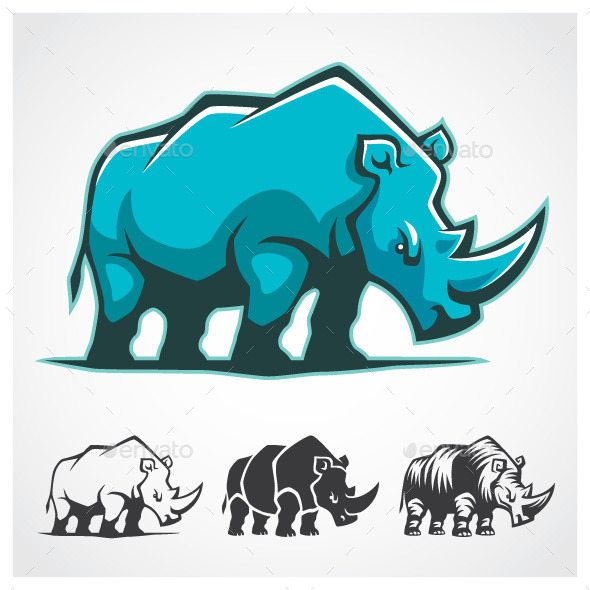 GraphicRiver Rhinoceros Symbol 9360663