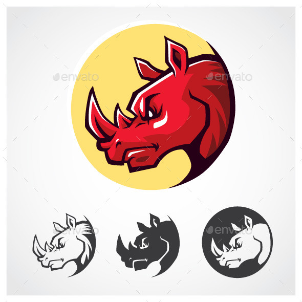 GraphicRiver Rhinoceros Head Symbol 9360673