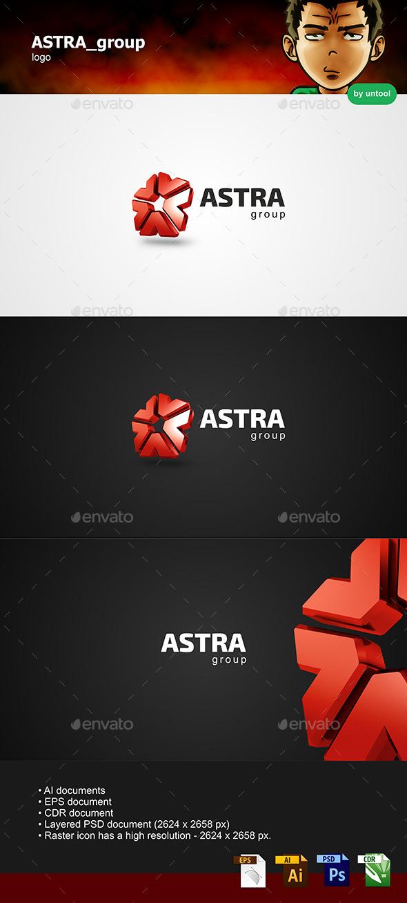GraphicRiver ASTRA group Logo 8927873