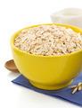 bowl of oat flake on white - PhotoDune Item for Sale