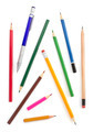 collection of pencils on white - PhotoDune Item for Sale