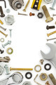 hardware tools  on white - PhotoDune Item for Sale