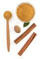 cinnamon sticks and powder on white - PhotoDune Item for Sale