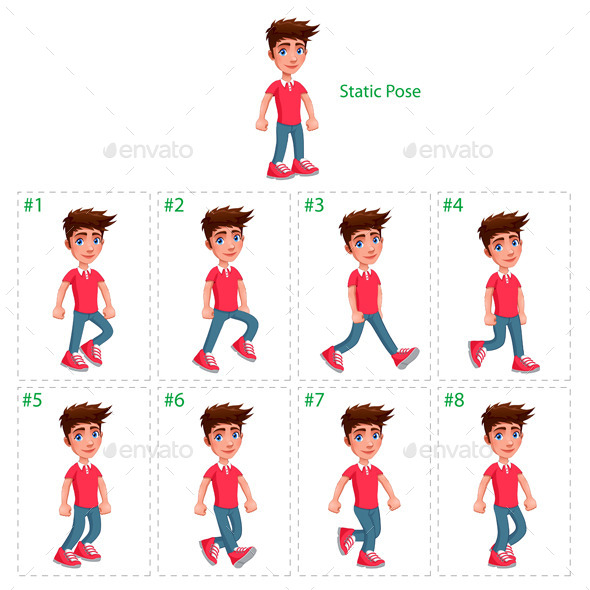 GraphicRiver Animation of Boy Walking 9361071
