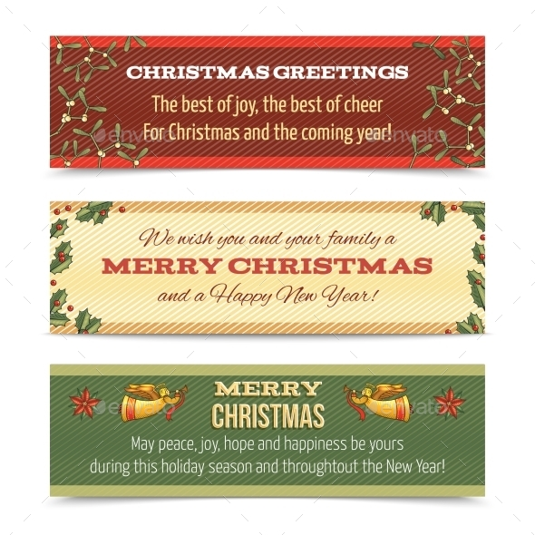 GraphicRiver Horizontal Christmas Banner 9361380