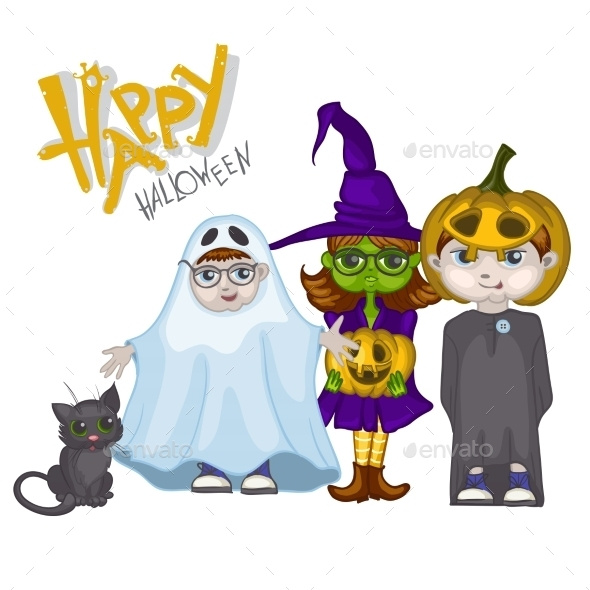 GraphicRiver Halloween Children Trick or Treating 9361410