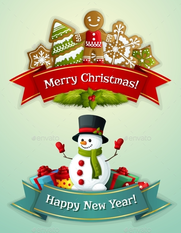 GraphicRiver Christmas Banner Set 9361441