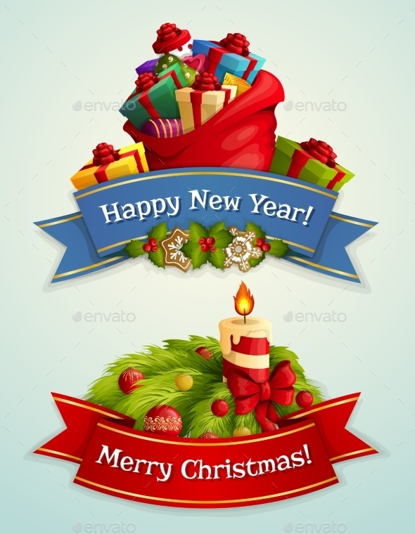 GraphicRiver Christmas Banner Set 9361470
