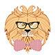 Lion Hipster - GraphicRiver Item for Sale