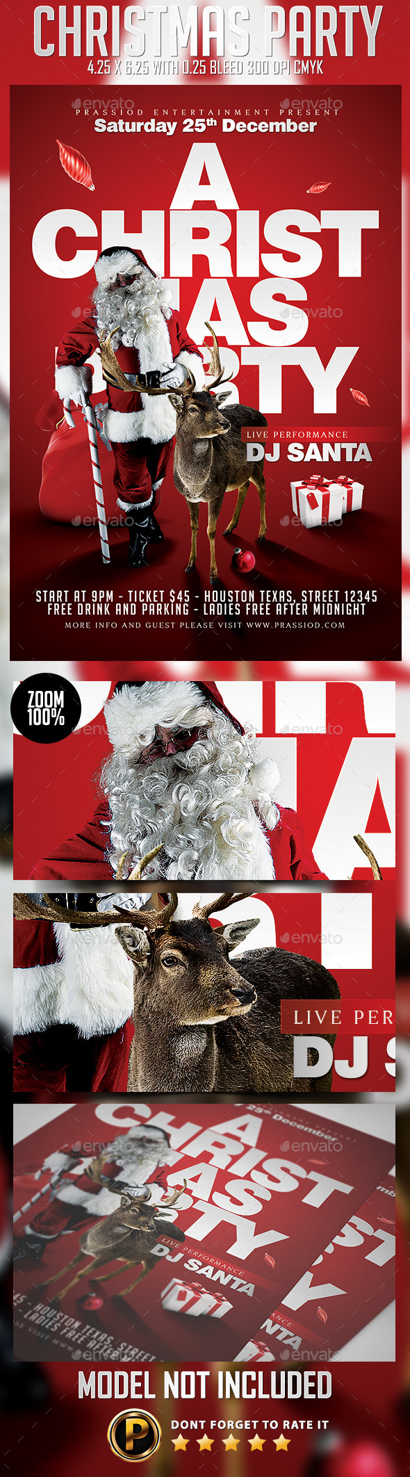 GraphicRiver Christmas Party Flyer Template 9361864