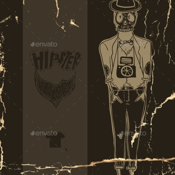 GraphicRiver Hipster Background in Retro Style 9362023