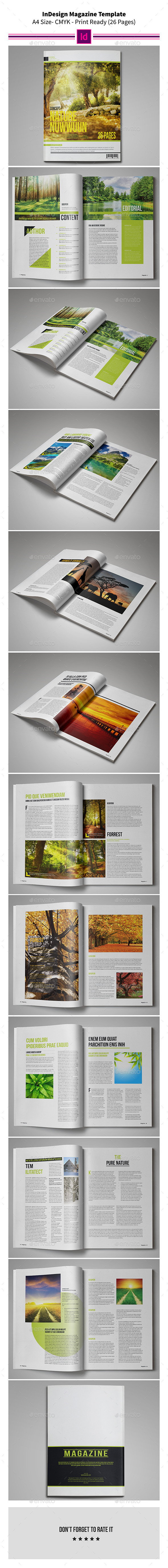 GraphicRiver Nature MagazineTemplate 26 Pages 9362533