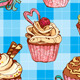 Set of Seamless Patterns with Cupcakes - GraphicRiver Item for Sale