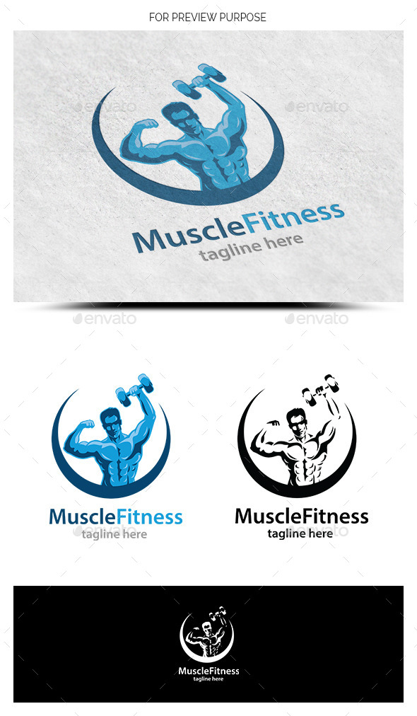 GraphicRiver Muscle Fitness Logo Template 9315897