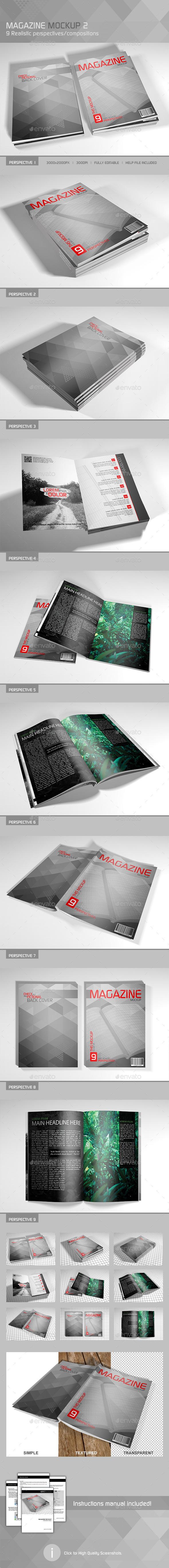 GraphicRiver Realistic Magazine Mockup 2 9362809