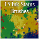 15 Ink Stains Brushes - GraphicRiver Item for Sale