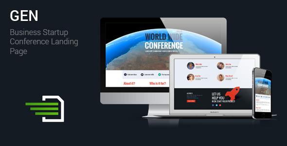 Gen - Business Startup Conference Landing Page Download