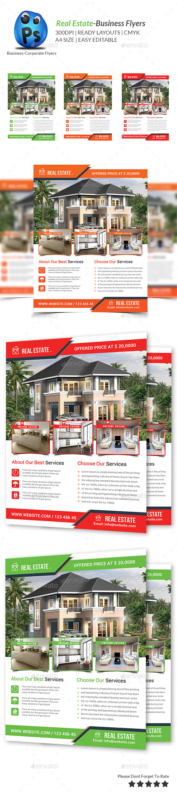 GraphicRiver Real Estate Flyer Template 9364032