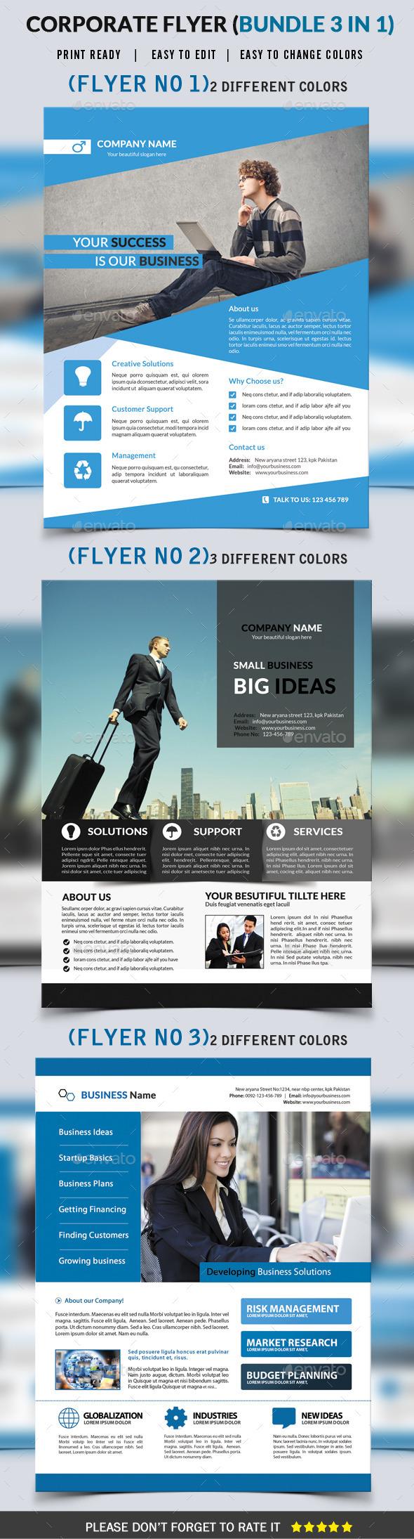 GraphicRiver Corporate Flyer Bundle 3 in 1 9364367