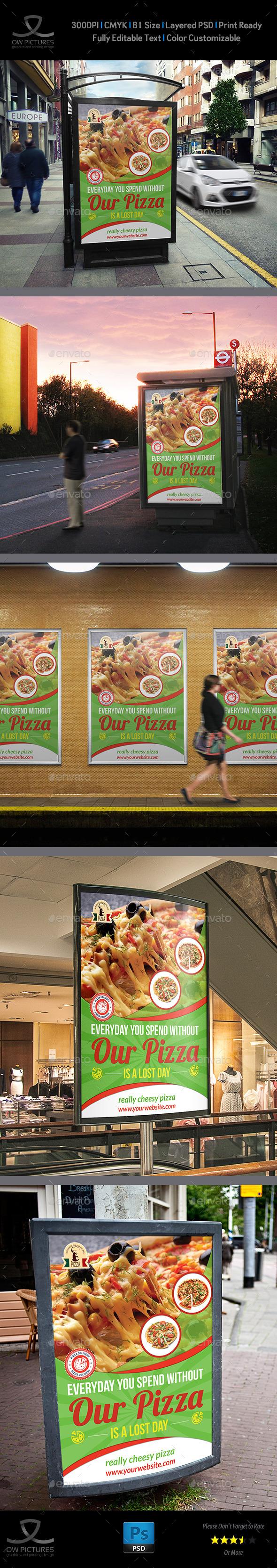 GraphicRiver Pizza Restaurant Poster Template 9364443