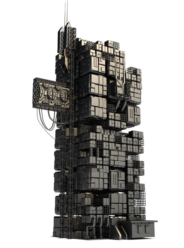 Sci Fi Box Building 7 - 3DOcean Item for Sale