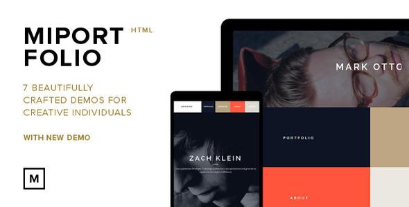 Miportfolio- Responsive One Page Creative Theme - Creative Site Templates