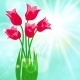 Spring Card Background with Red Tulips - GraphicRiver Item for Sale