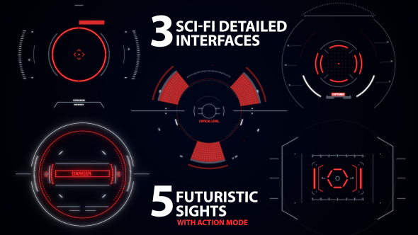 Sci-fi Interfaces and Sights pack (Elements)
