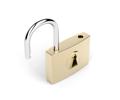 Unlocked padlock on white background - PhotoDune Item for Sale