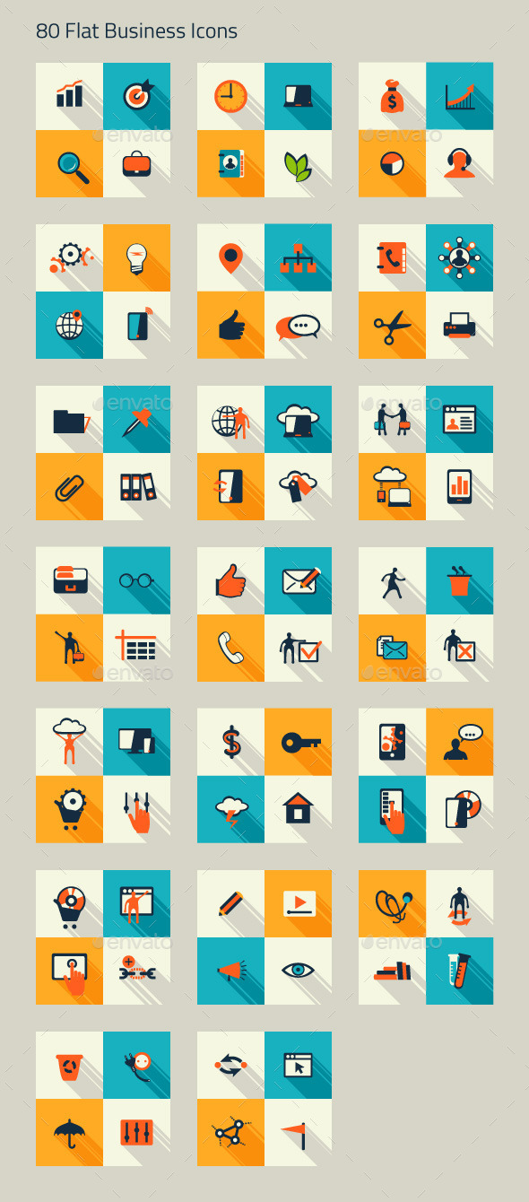 Business Icon Set Finance Marketing E-commerce