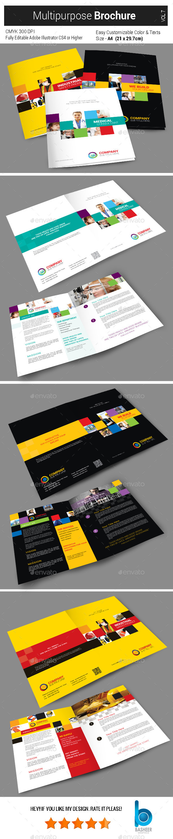 GraphicRiver Multi Purpose Brochure 4 Pages Vol7 9365760