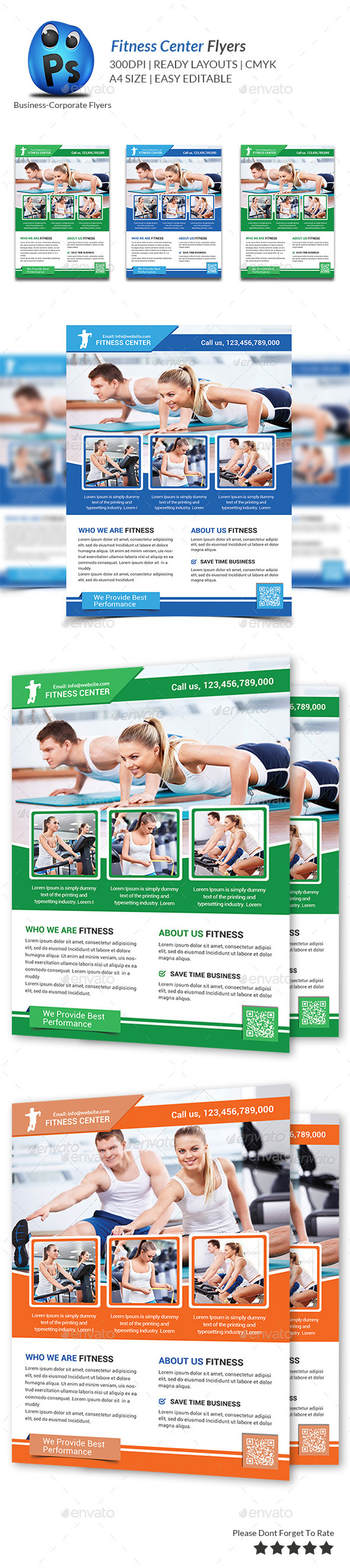 GraphicRiver Fitness Flyer Print Templates 9365782