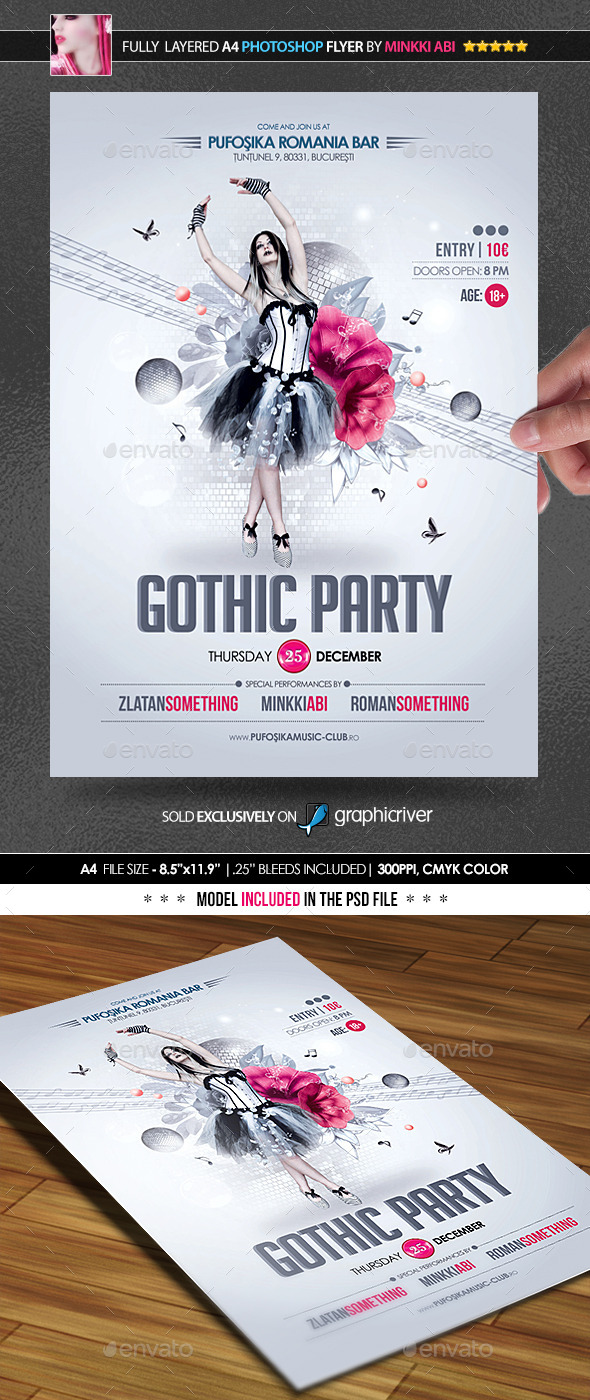 Gothic Party Poster/Flyer - Events Flyers