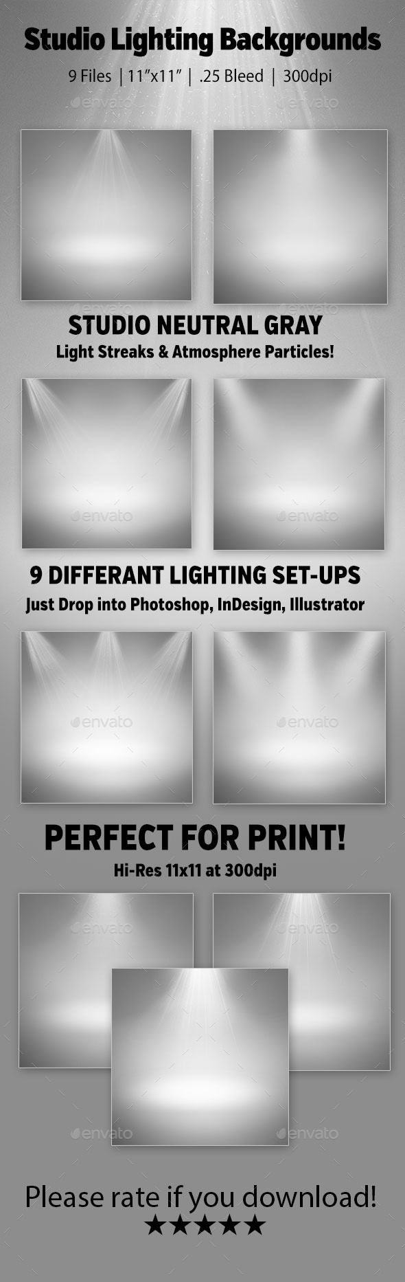 GraphicRiver Studio Lighting Backgrounds 9365904