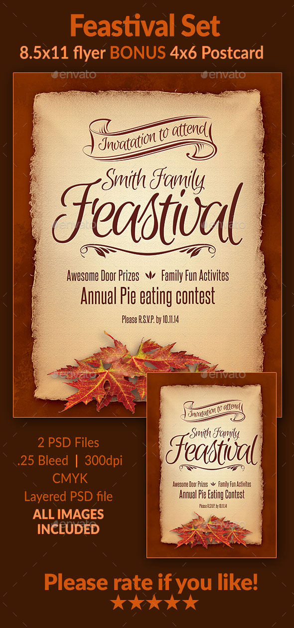 GraphicRiver Feastival Flyer Set 9366198