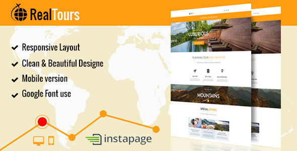 ThemeForest RealTour Instapage Travel & Vacation Page 9348719