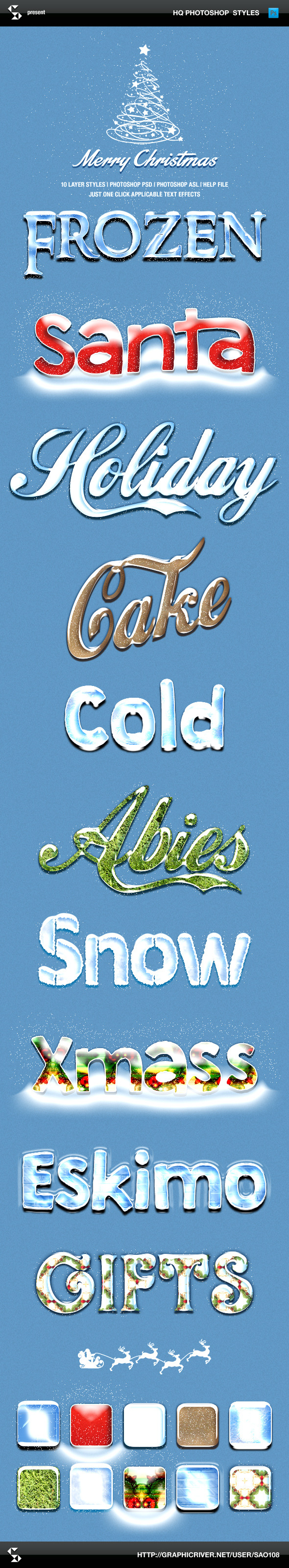GraphicRiver Winter Style Text Effects 9366238