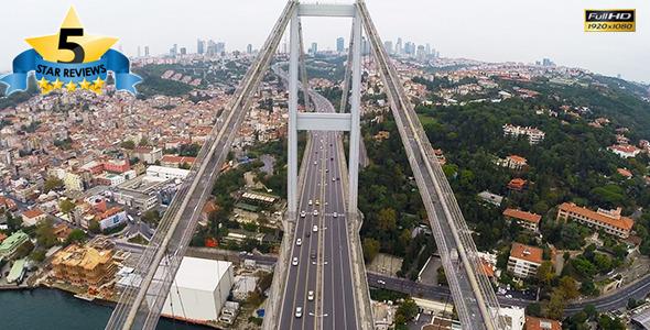 Aerial View of Bosphorus Istanbul