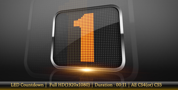 After Effects Project - VideoHive Led Countdown 954838