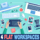Creative Office Workspace Flat Design - GraphicRiver Item for Sale