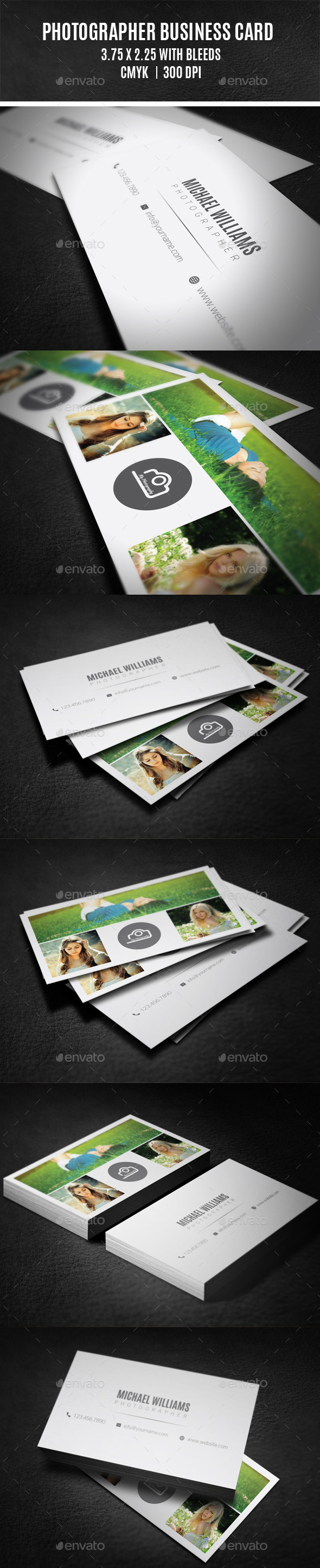 GraphicRiver Photographer Business Card 9305972