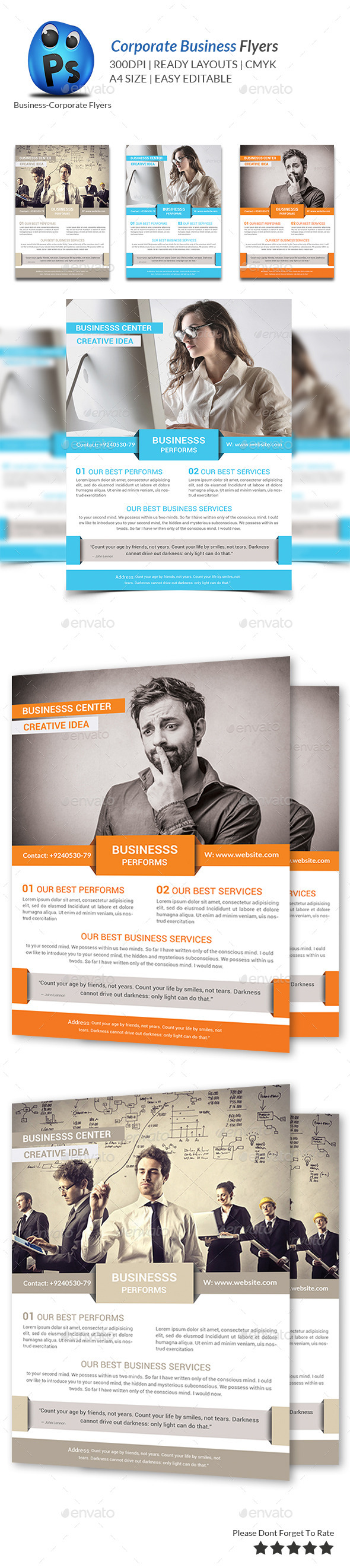 GraphicRiver Corporate Business Flyer Template 9367519