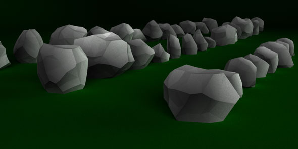 3DOcean 56 Rocks Low Poly Pack 9367597
