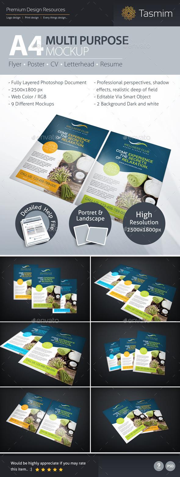 GraphicRiver A4 Multi Purpose Mockup 9367600