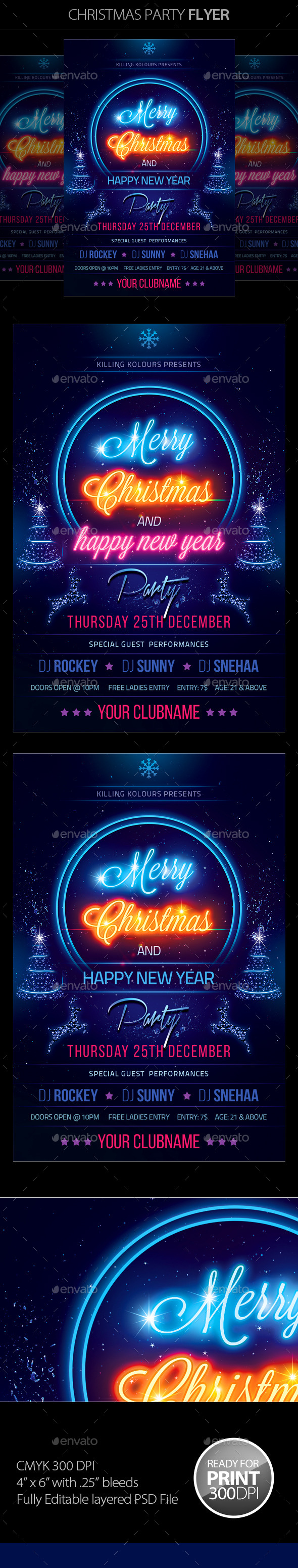 GraphicRiver Christmas Party Flyer 9367627