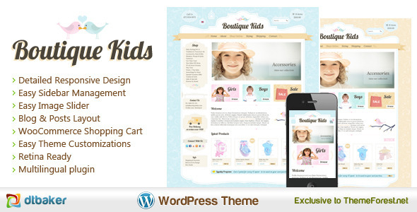 Boutique Kids Creative WordPress WooCommerce