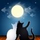 Dreaming Cats on a Roof - GraphicRiver Item for Sale