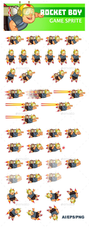 GraphicRiver Rocket Boy Sprite 9368233