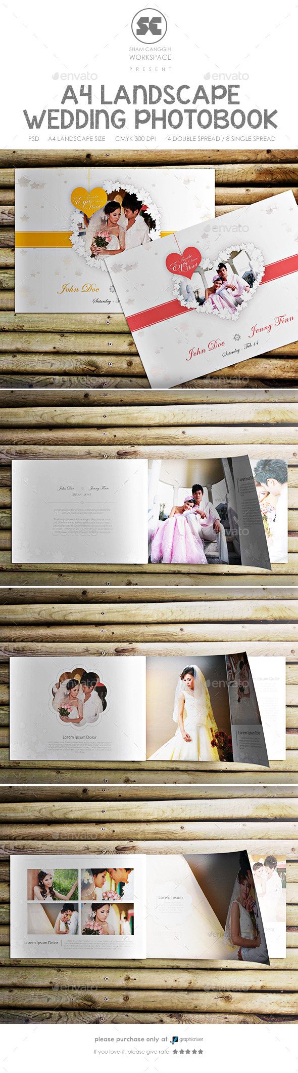 GraphicRiver Clean And Modern Wedding Photobook 9368254