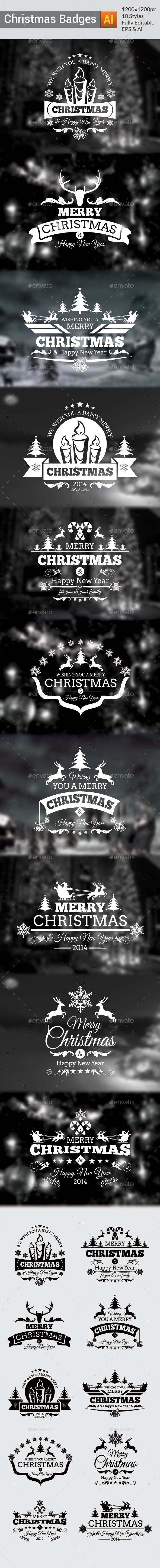 GraphicRiver Christmas Badges 9368269